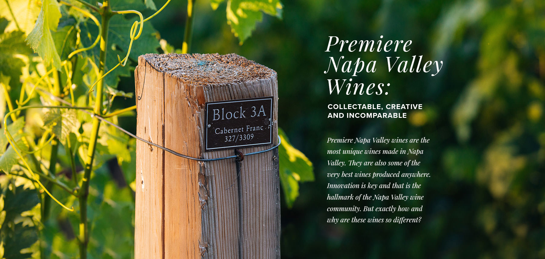 Incomparable Wines - Premiere Napa Valley